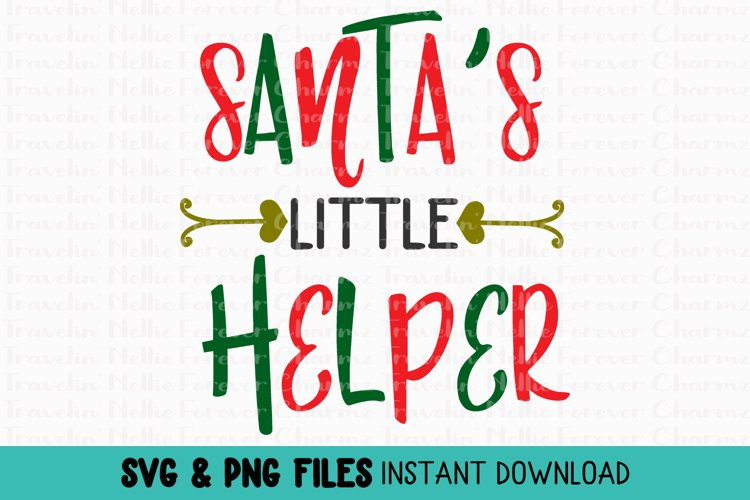 Santa S Little Helper Svg Toddler Kid Baby Christmas Holiday 381973 Svgs Design Bundles