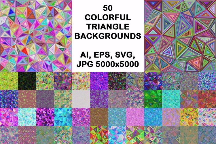 50 Colorful Triangle Backgrounds example image 1
