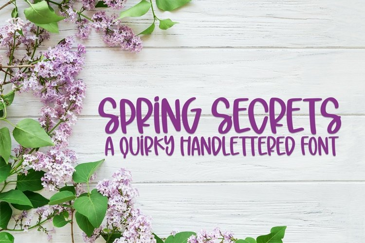 Web Font Spring Secrets - A Quirky Hand-Lettered Font example image 1