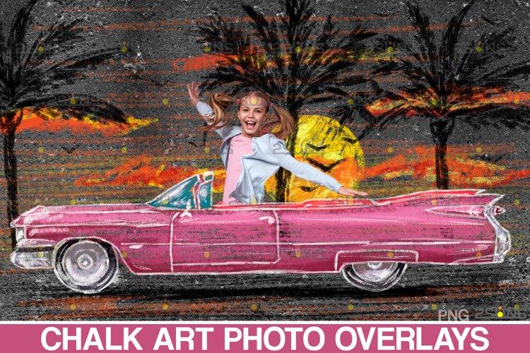 Overlay Father's day Sidewalk Chalk art, Car chalk example image 1