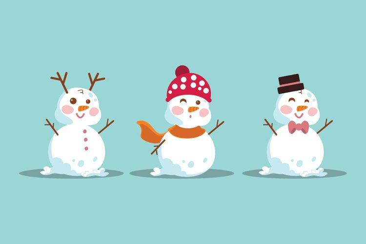 Cartoon Snowman Illustrations