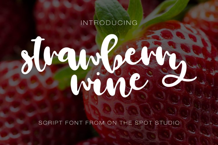 Strawberry Wine  example image 1