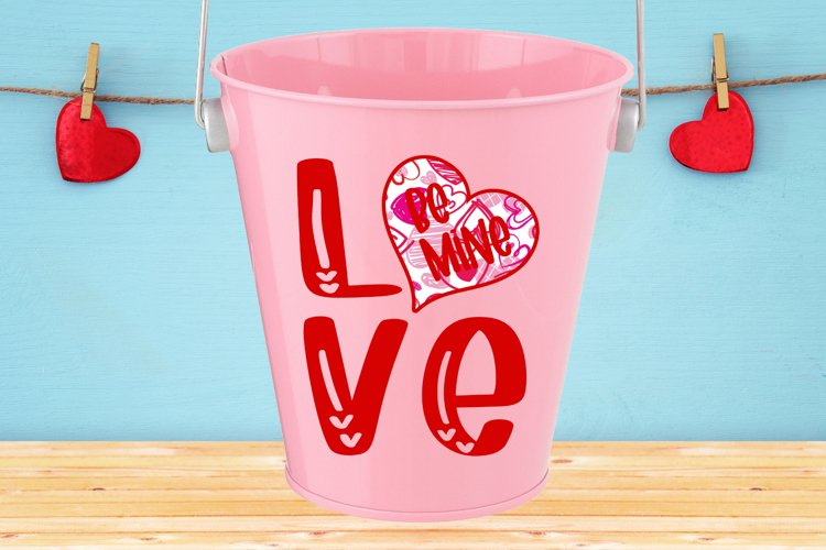 Love Be Mine with Heart SVG DXF PNG example image 1