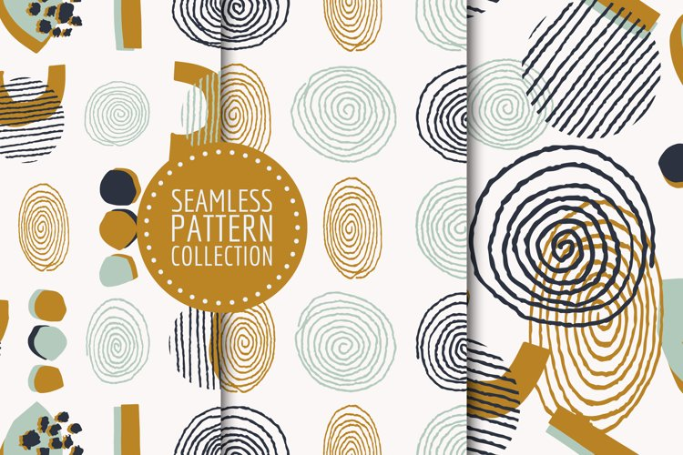 Abstract shapes seamless patterns