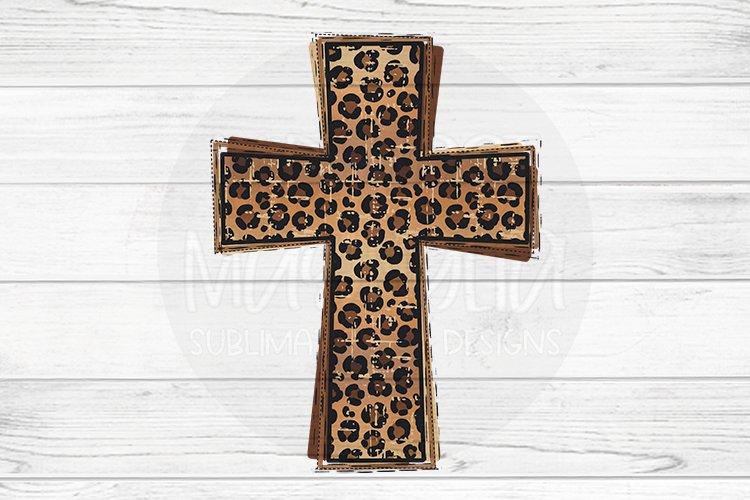 Leopard Print Cross example image 1
