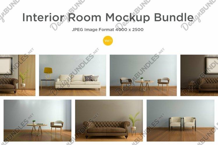 10 Images 3D Interior Room Mockup Bundle Vol 1