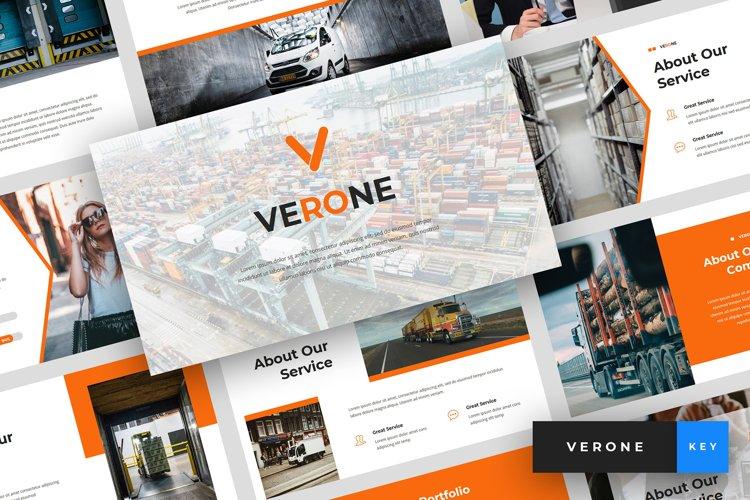 Verone - Logistics & Transport Keynote Template example image 1