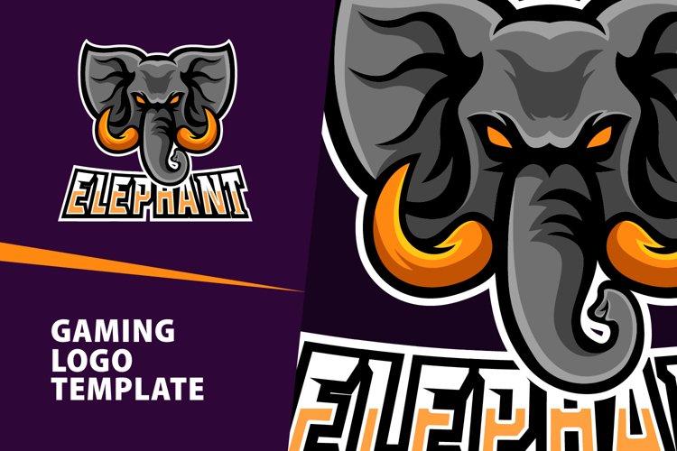 Elephant Gaming Logo Template example image 1