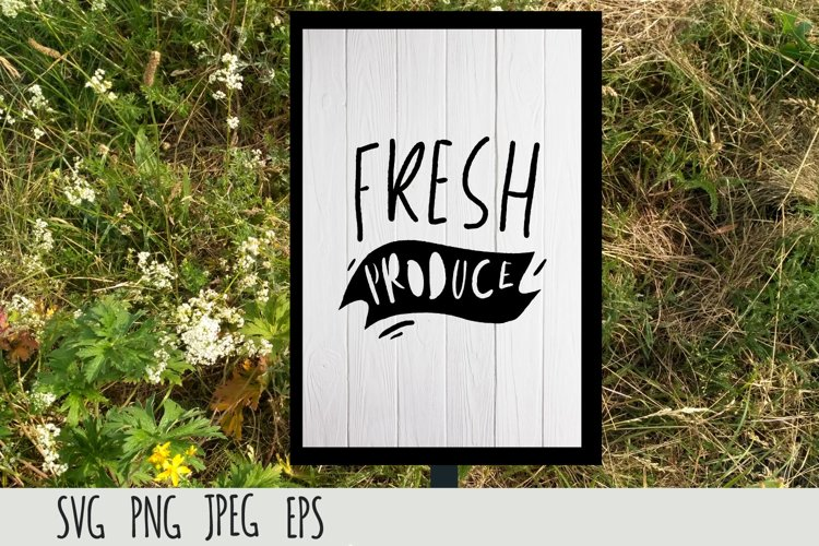 Farmers Market SVG cut file| Fresh produce example image 1
