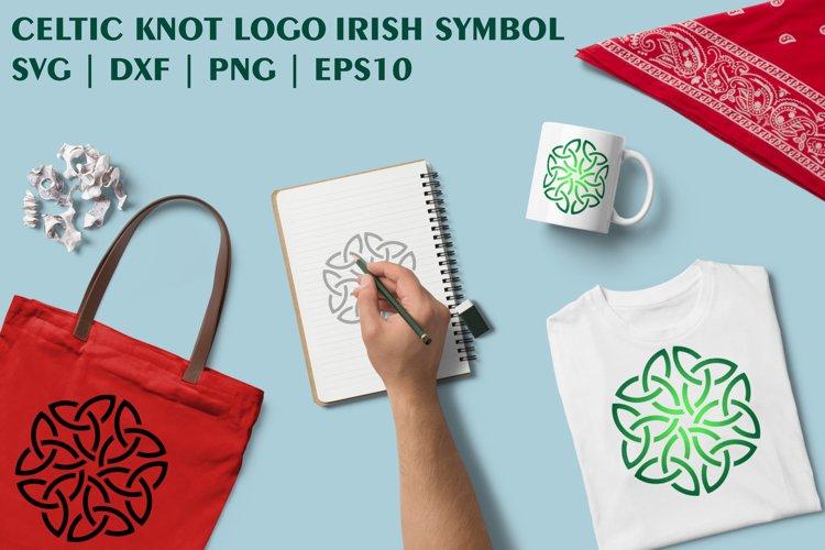 Green Shamrock Celtic Knot as Irish Symbol SVG DXF PNG EPS example image 1