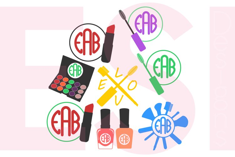 Make Up and Beauty Monogram Designs Set example image 1