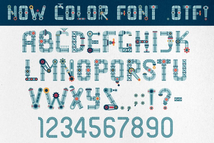 Steampunk font example image 1