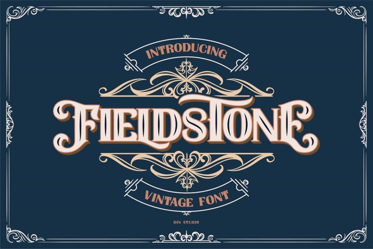 FIELDSTONE - LAYERED FONTS example image 1