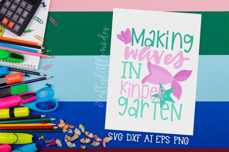 Kindergarten Mermaid | Mermaid Svg | Back To School