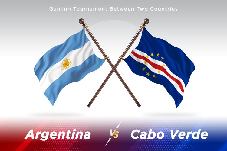 Argentina vs Cabo Verde Two Flags example image 1