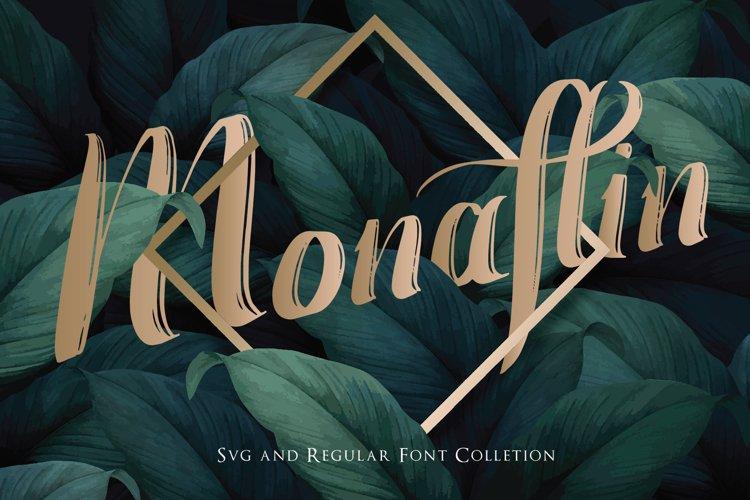 Monaflin Regular Font example image 1