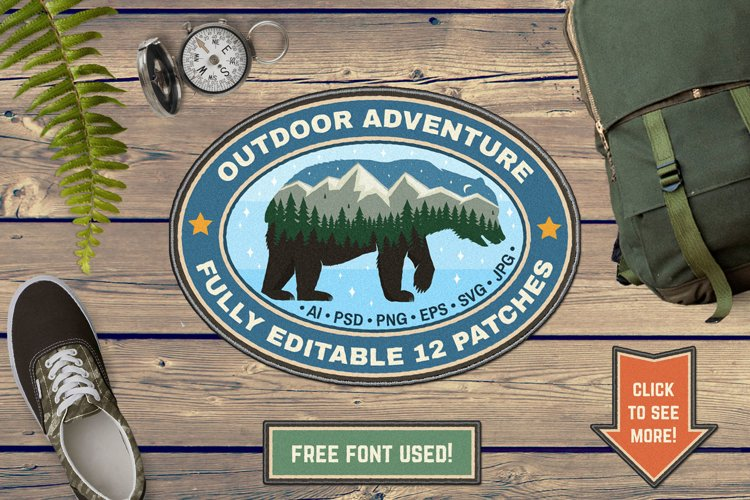 Outdoor Adventure Patches