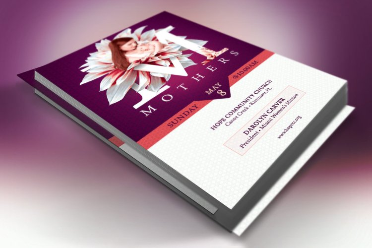 Mothers Day Church Flyer Template
