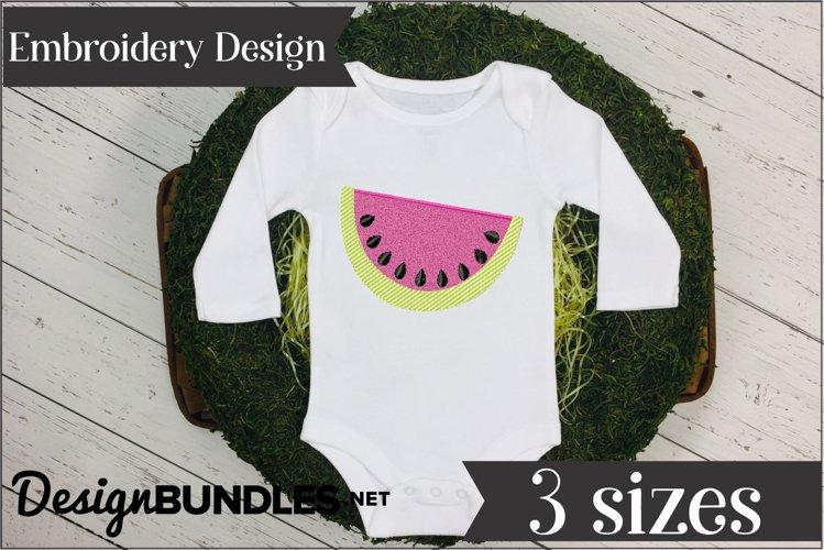 Watermelon Applique Embroidery Design example image 1