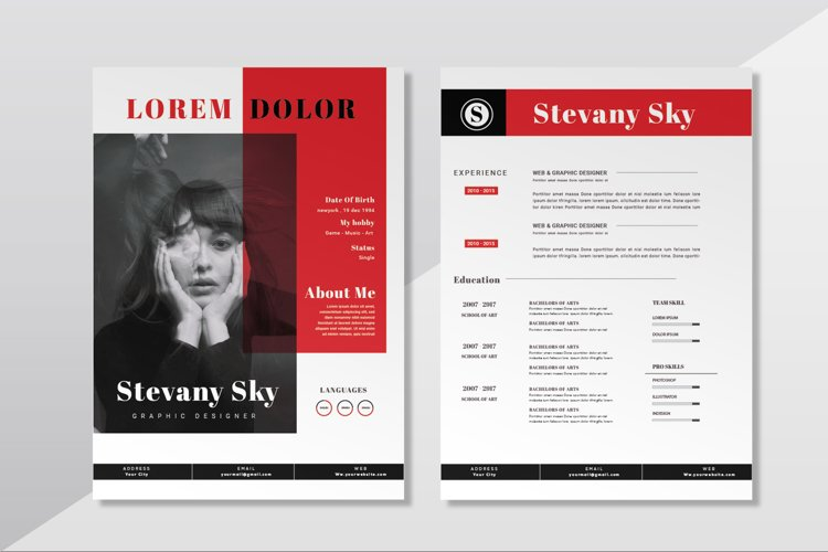 Red Sky | CV & Resume example image 1