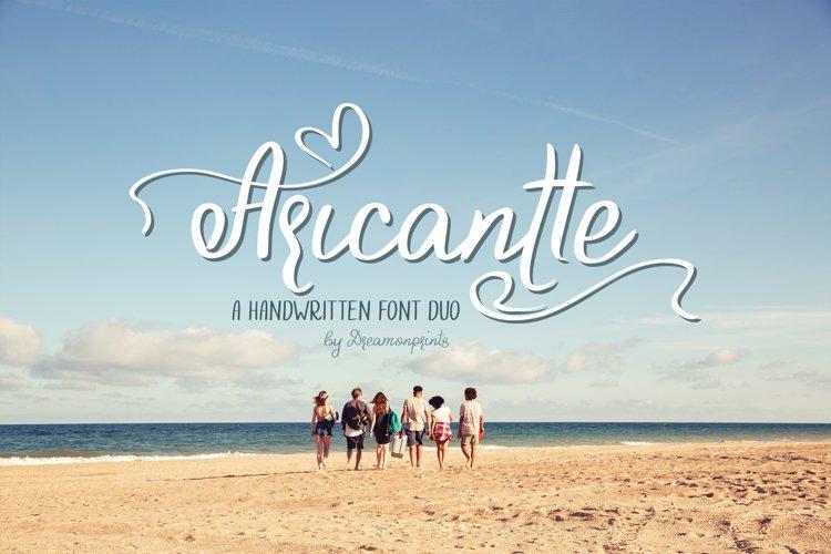 Aricantte - Handwritten Font Duo