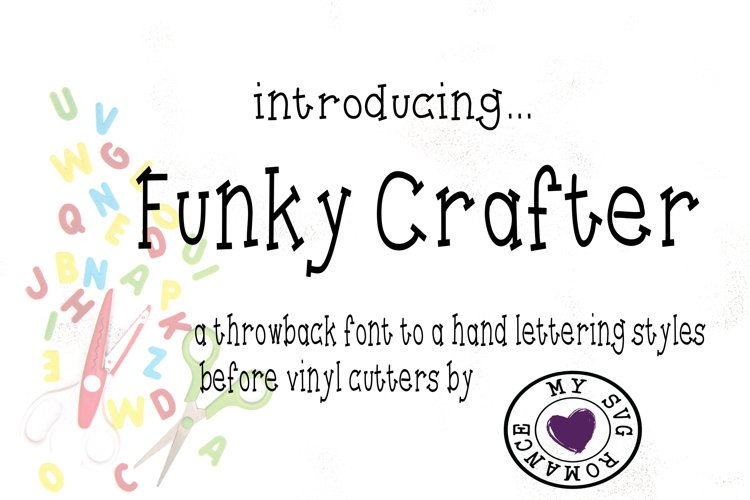 Funky Crafter - A Throwback Font To Hand Lettering example image 1