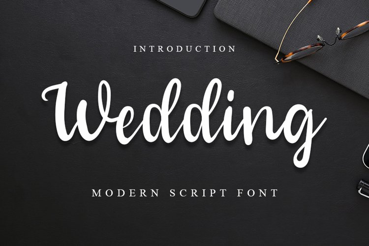 Wedding | A Modern Script Font example image 1