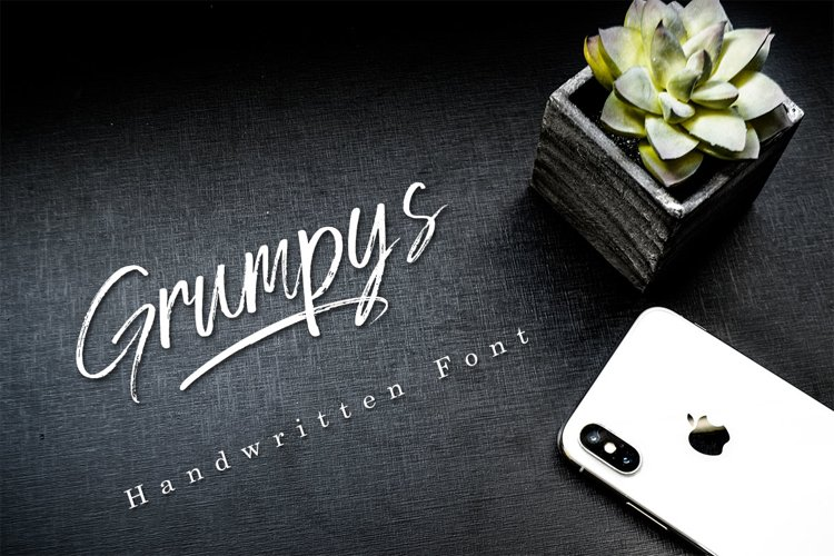 Grumpys - Brush Font example image 1