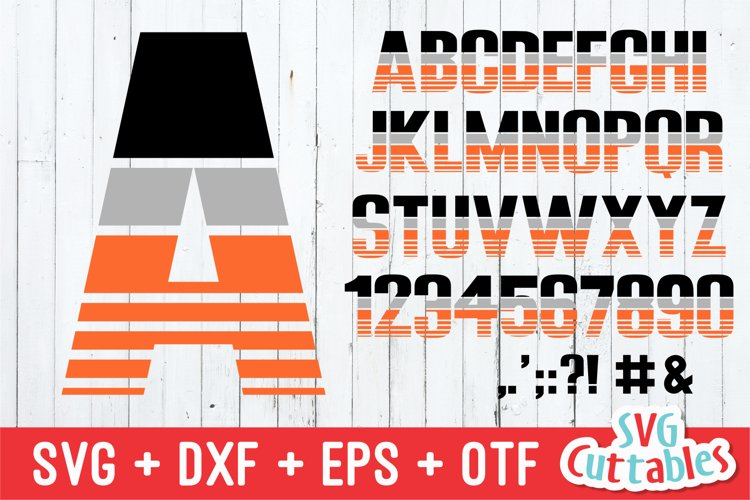 JP Athletic Stripes Sporty Font and SVG Alphabet