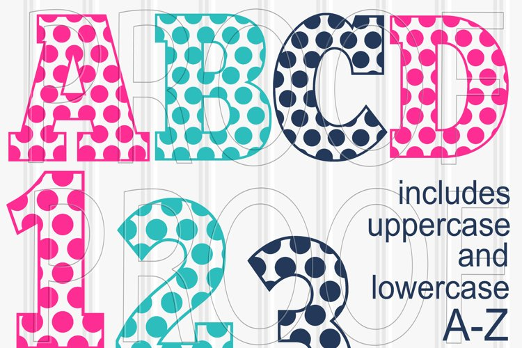 SVG Files Set of 62! Letter and number set includes Uppercase, Lowercase, and Numbers 0-9 svg/png/jpg