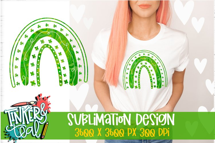 Clover Rainbow Sublimation Design / Sublimation PNG