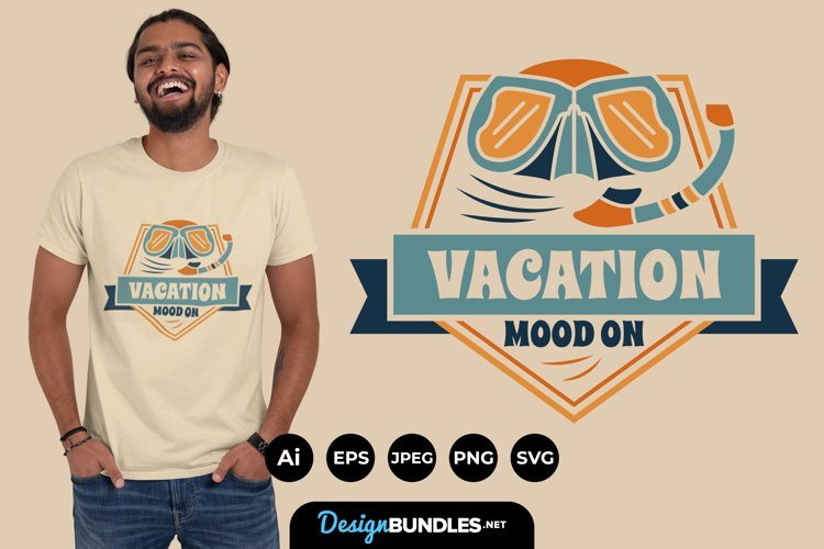 Vacation Mode ON Hand Lettering SVG example image 1