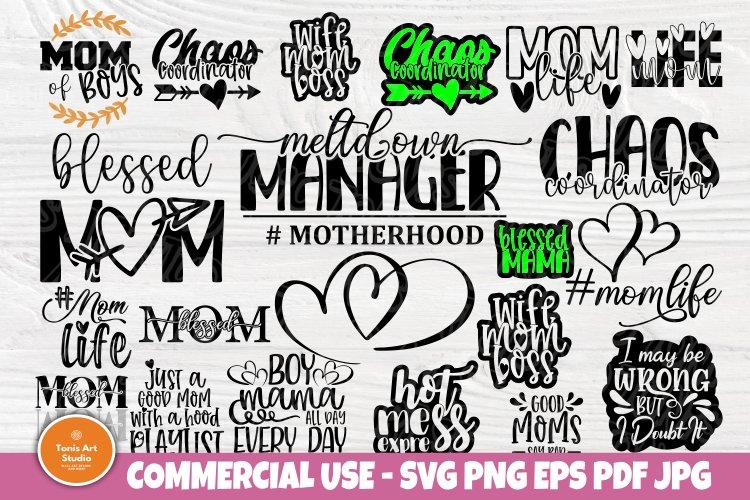 Mom Signs SVG Bundle, Funny Mom Shirt, Svg Cut Files Cricut example image 1