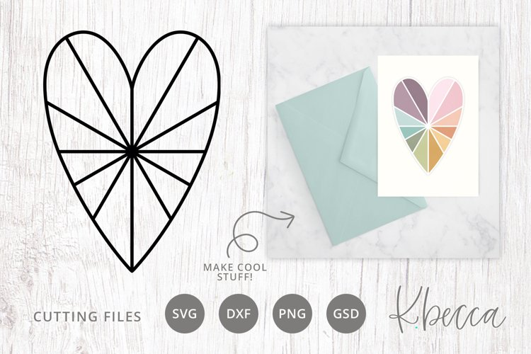 Faceted Heart SVG Cut File Card Making Paper Carfts