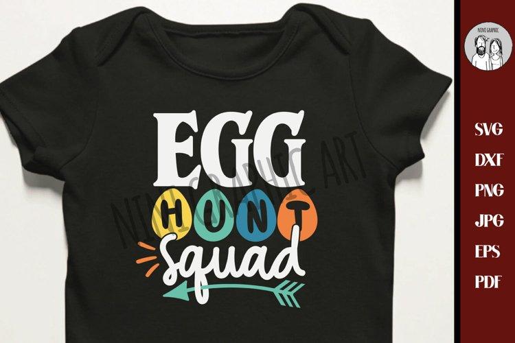 Egg Hunt Squad SVG, Easter SVG, Easter Basket svg, example image 1