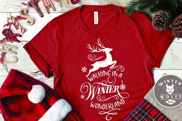 Walking in a winter wonderland SVG EPS DXF PNG example image 1