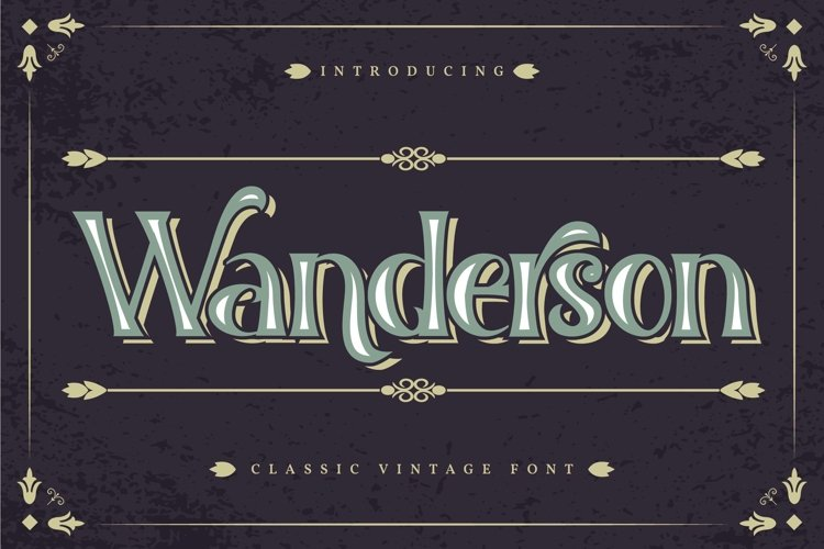 Wanderson | Classic Vintage Font example image 1