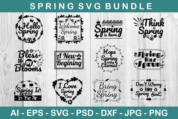 Spring SVG Bundle example image 1