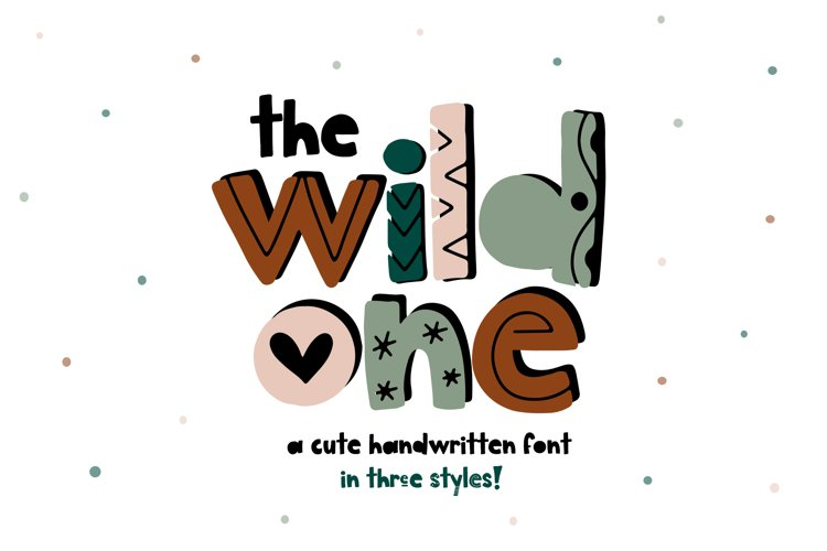 The Wild One - A Fun Handwritten Font with Alternatives! example image 1