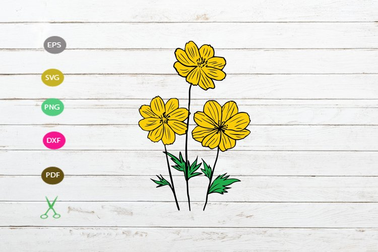 daisy flower svg cut file,daisy silhouette,flower svg file example image 1