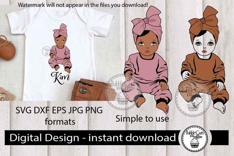 Afro Girl with bandana 79 example image 1