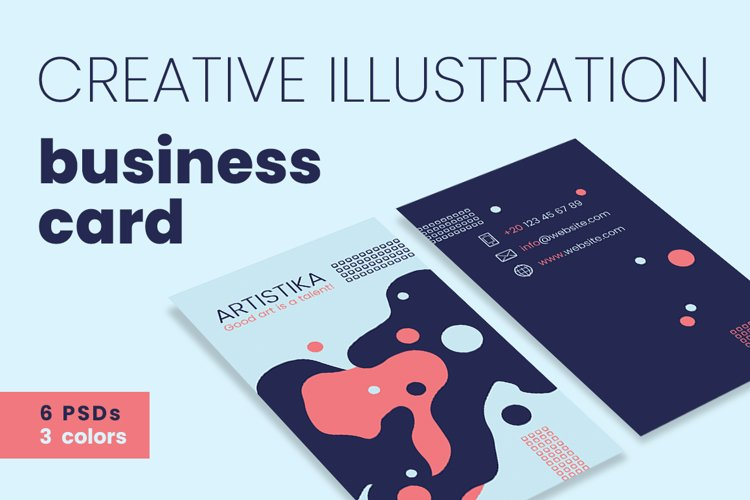 Creative Illustration Business Cards example image 1