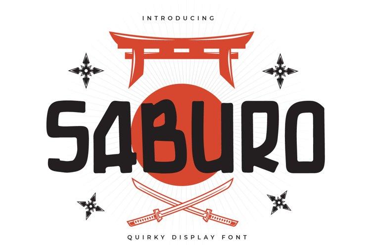 Saburo - Quirky Display Font example image 1
