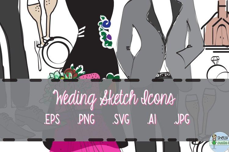 Wedding Sketch Icons example image 1