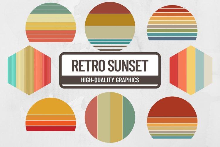 Retro Sunset Striped Background
