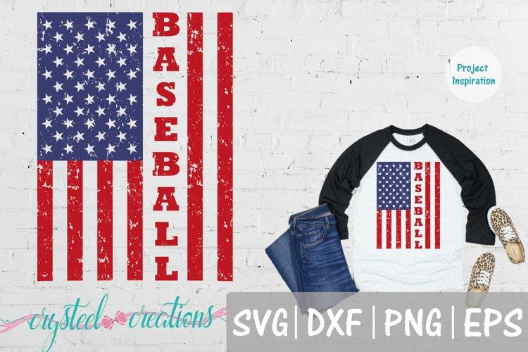 Baseball Flag SVG, DXF, PNG, EPS example image 1