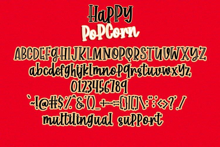 Happy Popcorn - Handwritten Font example 5