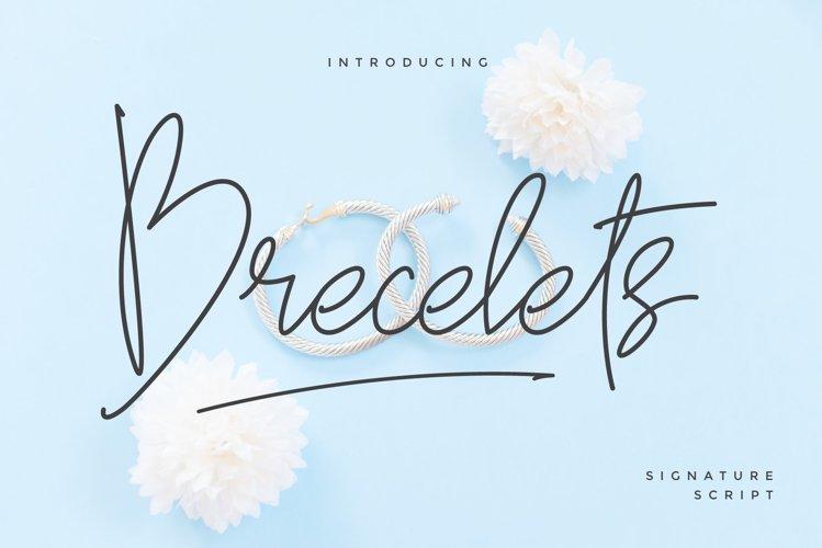 Brecelets Signature Font example image 1