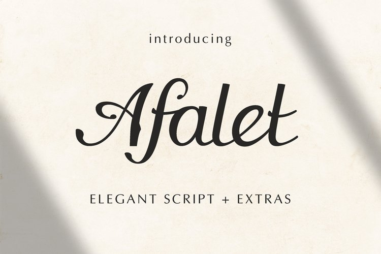 The Afalet font example image 1