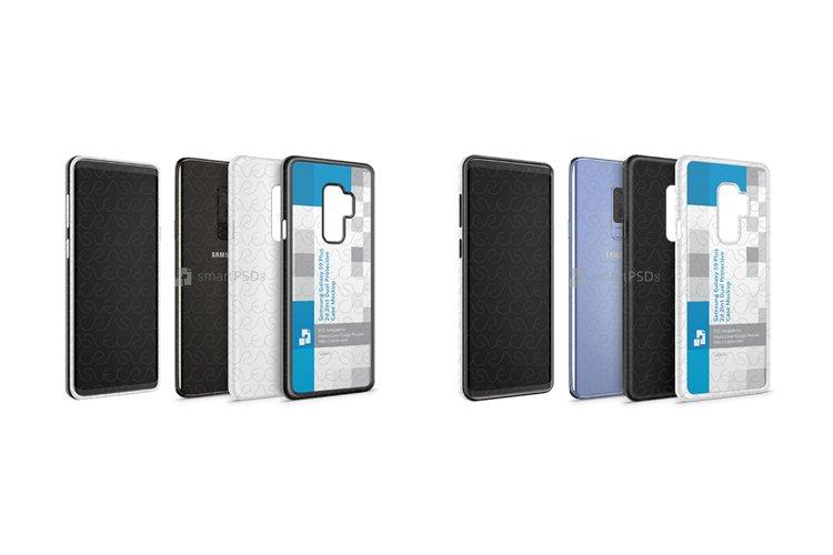 Galaxy S9 Plus 2d 2in1 Heavy Duty Case Design Mockup